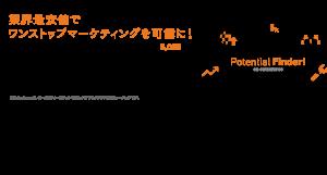 リード獲得に強い|クラウド型マーケティングツール|Potential Finder!のメインビジュアル画像