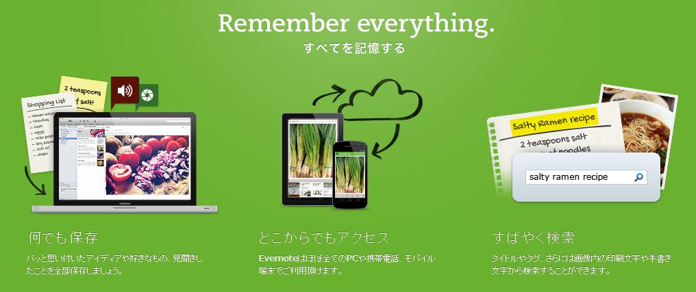Evernoteのメインビジュアル画像