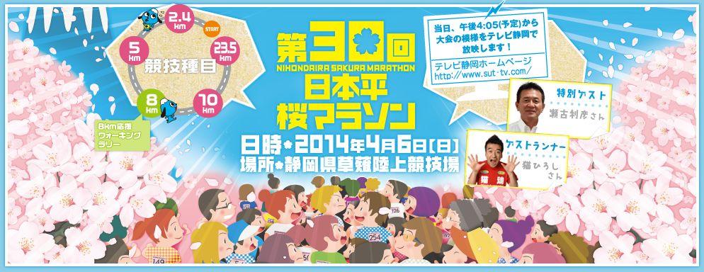 日本平桜マラソンのメインビジュアル画像